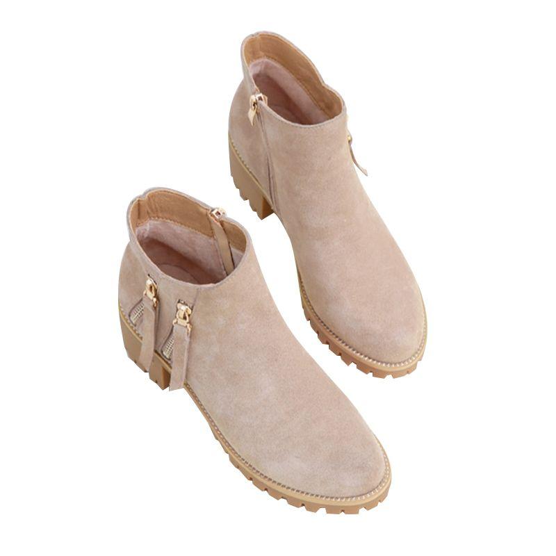 Fashion Ladies Snow Boots Women Winter Boots High Heel