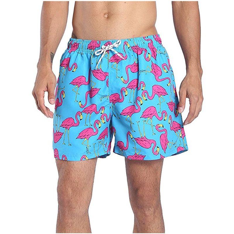 Nuovi fenicotteri Costumi da bagno Costume da bagno Costume da bagno da uomo Slip da spiaggia mimetici Pantaloncini Costume da bagno sportivo Masculina Sunga Bandiera nazionale