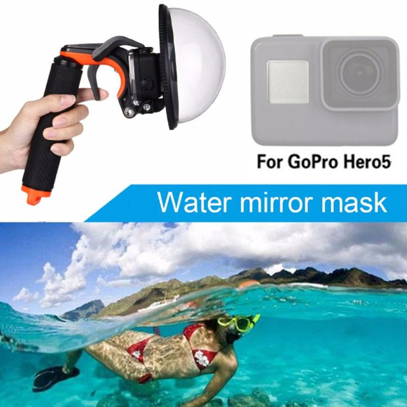 New Dome Port Lens for Gopro Hero 5 Accessories Transparent Cover Diving with Waterproof Housing Case for Underwater Photography