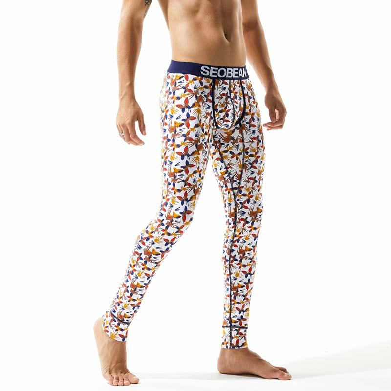 Fashion 2018 New Autumn And Winter Printed Men Leggings Thermo Underwear For Men Long Johns Cotton Man Warm Thermal Long Johns