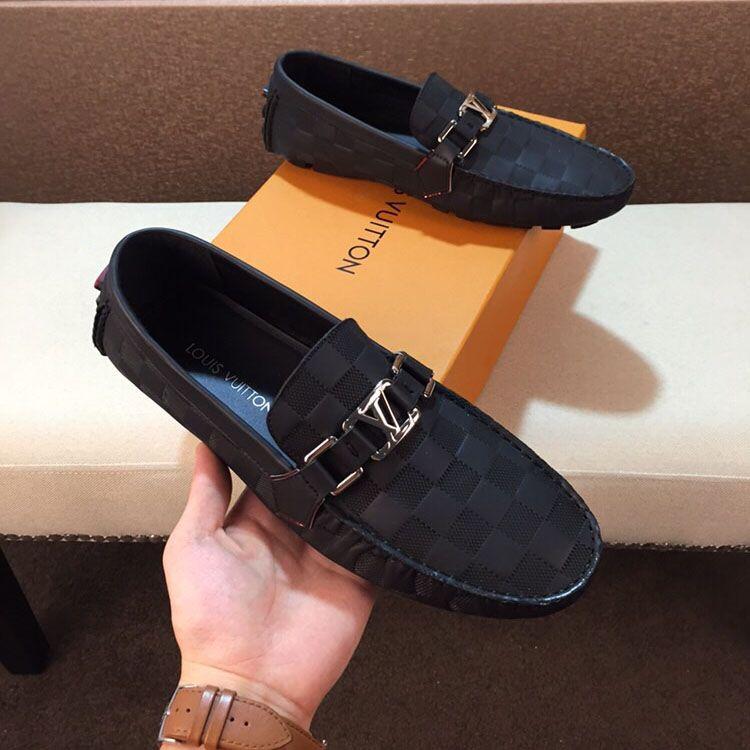 mejor servicio e0a20 baa5e Compre BRAND Mocasines Hombres Zapatos Negros Slip On Hombres Ocio Zapatos  Planos Moda Hombre Mocasines Mocasines Respirables Zapatos De Conducción A  ...