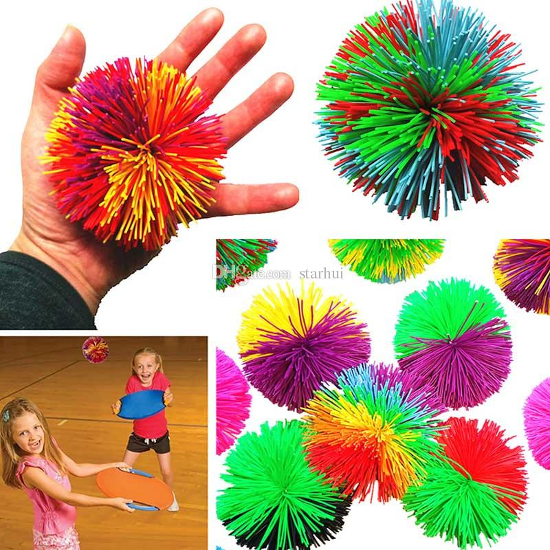 6CM Colorful Soft Active Fun Toys Sensory Fidgets Toys Rainbow Rubber Bouncy Stress Novelty Toy For Adult Kids WX9-686