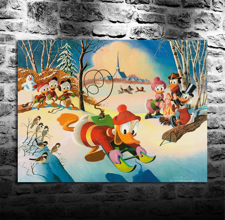 Scrooge McDuck -21, stampa su tela HD Nuova decorazione della casa arte pittura / (senza cornice / incorniciato)