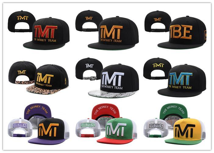 20 Misto economico Snapback palla The Money Team Sport Basket Baseball Caps Cap Snapbacks regolabili Cappelli Hip Hop per le donne degli uomini