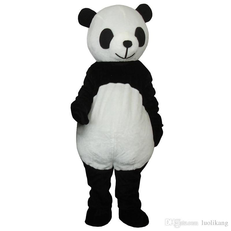 2018 nouveau mignon panda mascotte CHAUD-vente Costume Adulte Anime Unisexe vente chaude mascotte costumes vente livraison gratuite