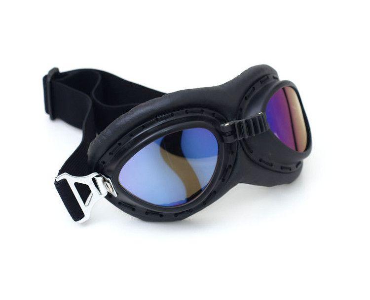 MENGCORE Motorcycle Goggles Glasses Vintage Motocross Classic Goggles Retro Aviator Pilot Cruiser Steampunk ATV Bike UV Protection Copper