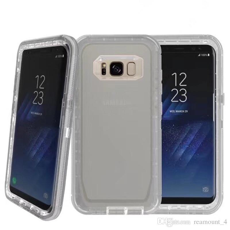 Venda quente defensor case para samsung s9 s9 além de dupla camada de proteção tampa traseira transparente anti-choque do telefone móvel shell