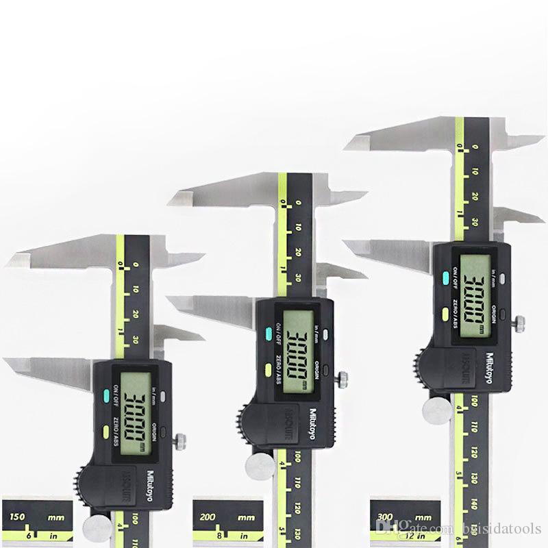 ABS وظيفة الرقمية رنيه الفرجار mitutoyo الفولاذ المقاوم للصدأ الفرجار الرقمية الإلكترونية 0-150 0-200 0-300 0.01mm