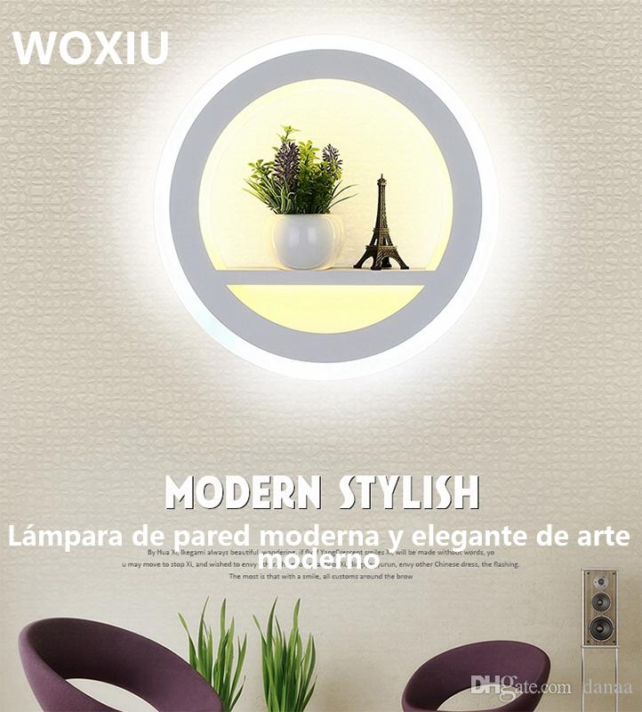 WOXIU led simple fashion art modern wall lights put something things decor for home living restaurant sconce fixture north lighting