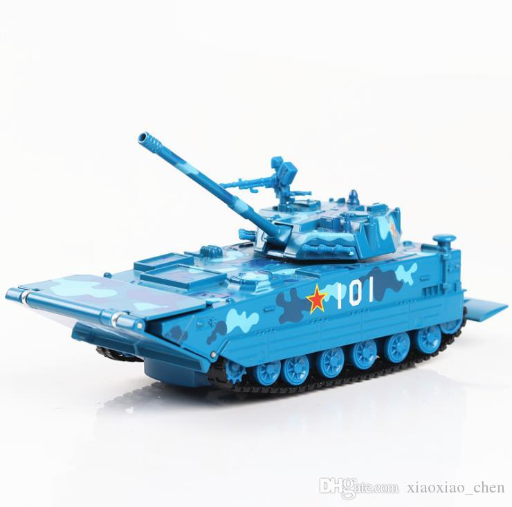 Military model Amphibious tank armored vehicle 1:32 alloy pull back car model diecast metal toy vehicles sound&light Tank model