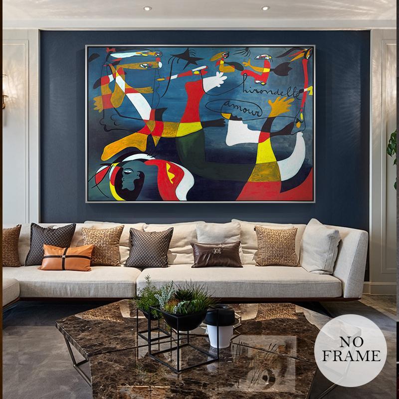 Picasso Słynny abstrakcyjny obraz olejny do domu Dekoracja Big Picture HD Płótno Malarstwo Sztuka Wall Pictures for Saling Room Plakaty