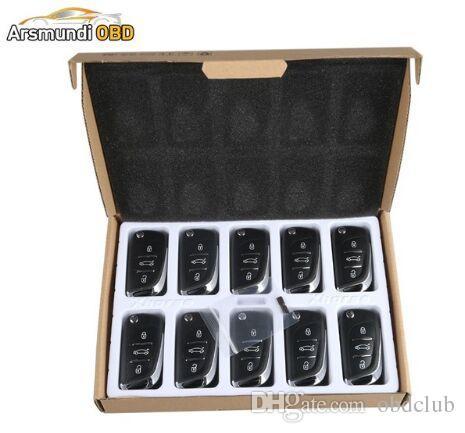 Best Quality 10pcs x DS Wireless Universal Remote Key 3 Buttons For VVDI2 Key Programmer And VVDI Prog Free Shipping