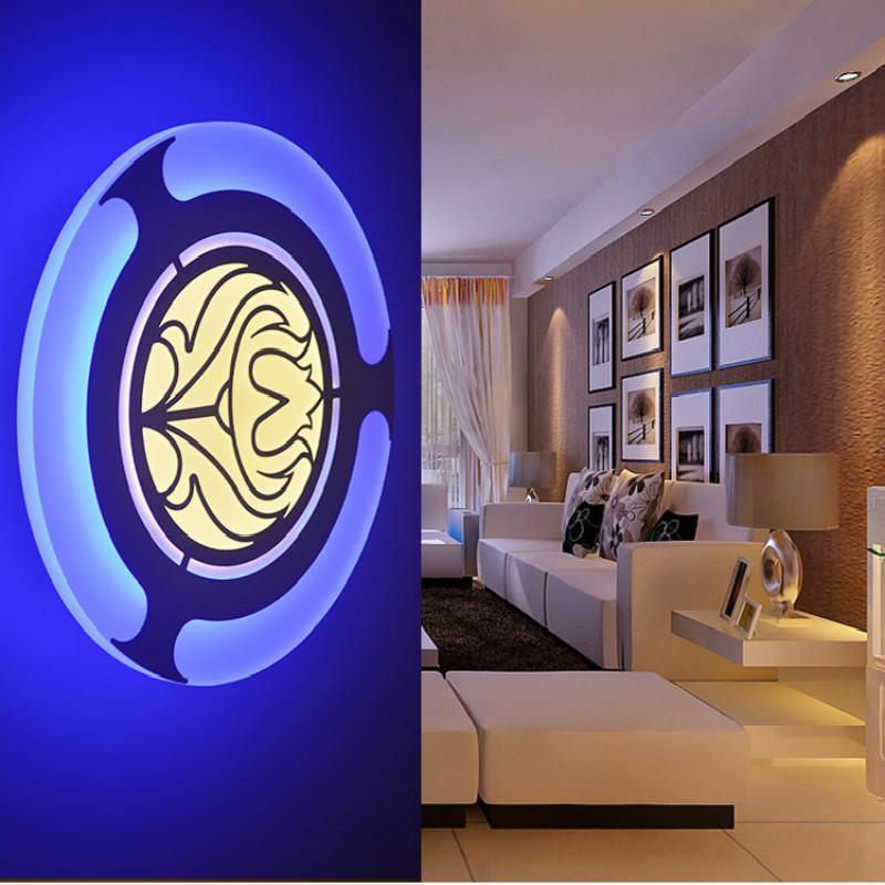 16 W Modernas Lámparas de Pared Led Acrílico Cama Habitación Luz de la pared Sala de estar Foyer Cuarto de baño Iluminación montada en la pared Decoración al por mayor Dropship