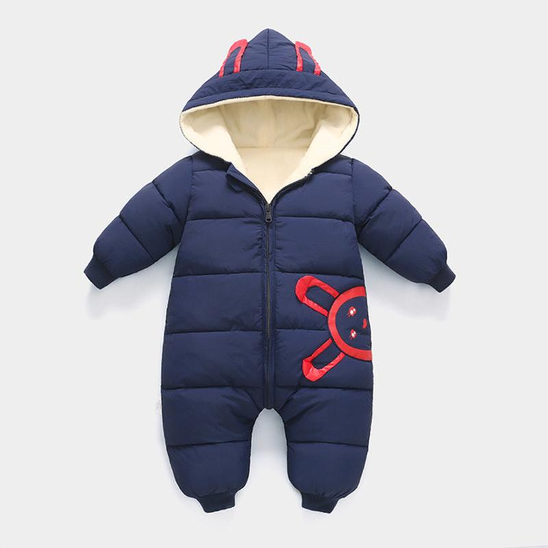 HYLKIDHUOSE 2018 Kış Bebek Kız Erkek Tulum Bebek Yenidoğan Tulumları Kapüşonlu Sıcak Rüzgar Geçirmez Kalınlaşmak Toddler Çocuk Kostüm