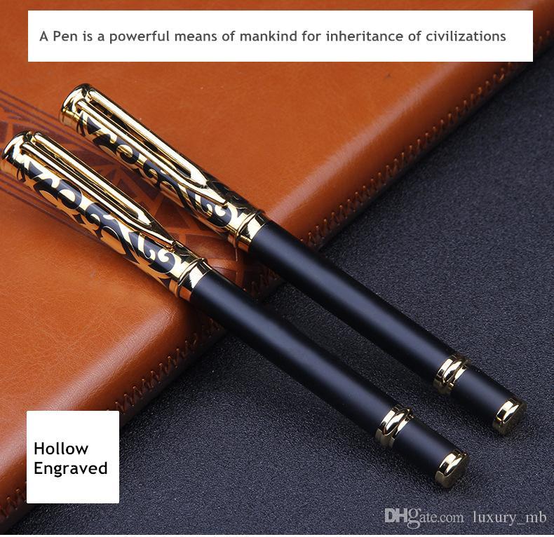 Nova caneta de Luxo Esculpir Esculpir ball ball canetas 0.5mm caneta de tinta preta caneta de Negócios para escrever papelaria presente