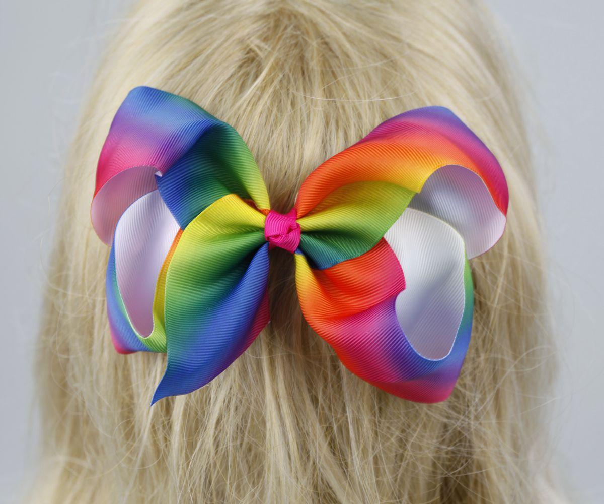 New Super cute and exquisite three models of colorful rainbow bow tie children accessories headwear wholesale