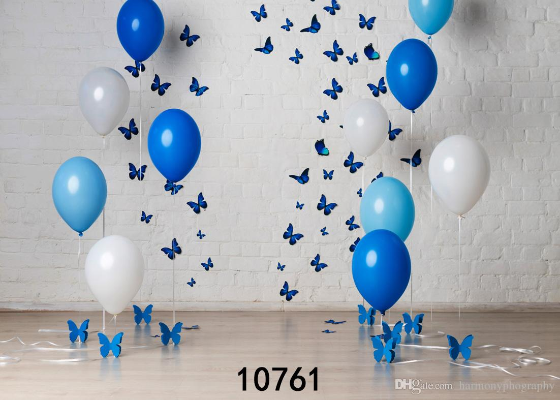 Butterfly Balloon 7X5ft Wedding Children Baby Newborn Vinyl Photography Backdrops Photo Studio Decor Backgrounds for Photo Shoot