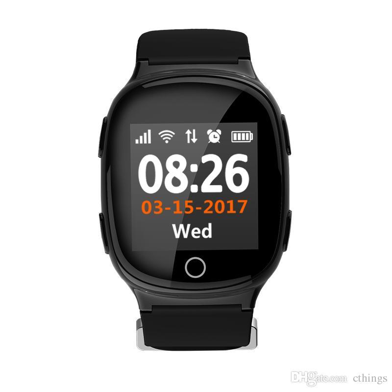 f6ccee5050d7 Comprar Reloj D100 GPS Tracker Reloj Pulsera Para Ancianos Aplicación Móvil  Google Map Call Button Despegue Alarma GSM GPRS Tracker Para IOS Teléfono  ...