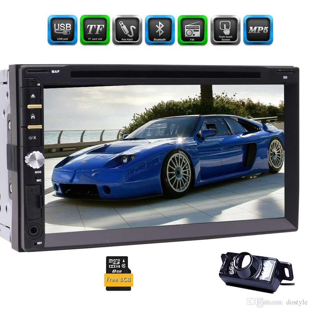 Backup Camera+Eincar Double Din Car Stereo 7 Inch Full-Touch Capacitive Screen GPS Navigation system Car DVD Player Support Bluetooth