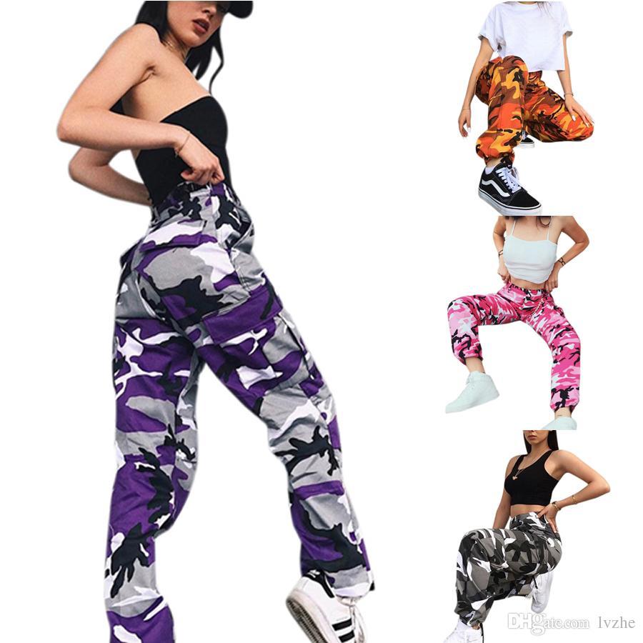 Compre Combate Nuevo De Las Mujeres Moda Para Mujer De Camo Del Camuflaje Del Cargo A Pantalones De Hip Hop Del Ejercito Militar Senderismo Jeans A 10 86 Del Lvzhe999 Dhgate Com