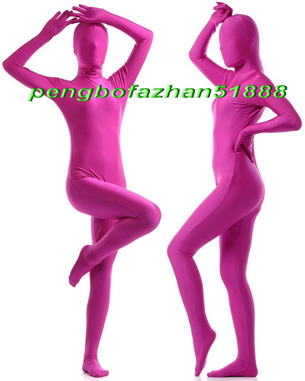 Unisex Ganzkörperanzug Kostüme Outfit New Rose Red Lycra Spandex Anzug Catsuit Kostüme Unisex Sexy Full Bodysuit Kostüme Outfit P407