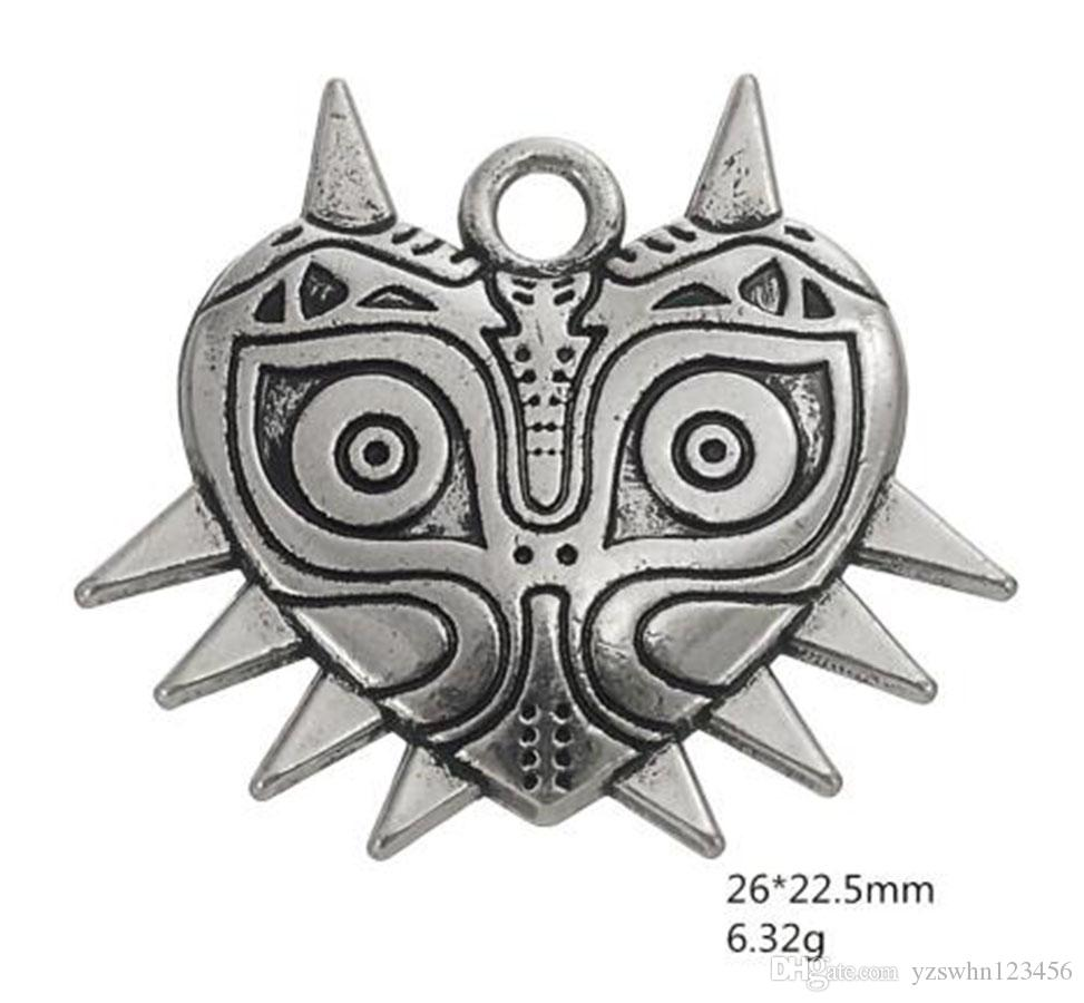 Tinetan Vintage Style Majora Mask The Legend of Zelda Pendant Charms Fit Necklace Wiccan Jewelry