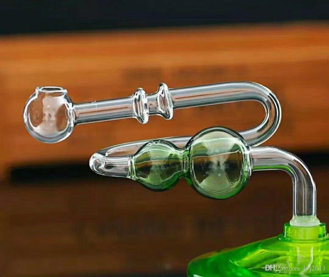 vetro zucca pot piegato bong di vetro all'ingrosso, Oil Burner, Tubi bicchiere d'acqua, piattaforme petrolifere fumatori Rigs