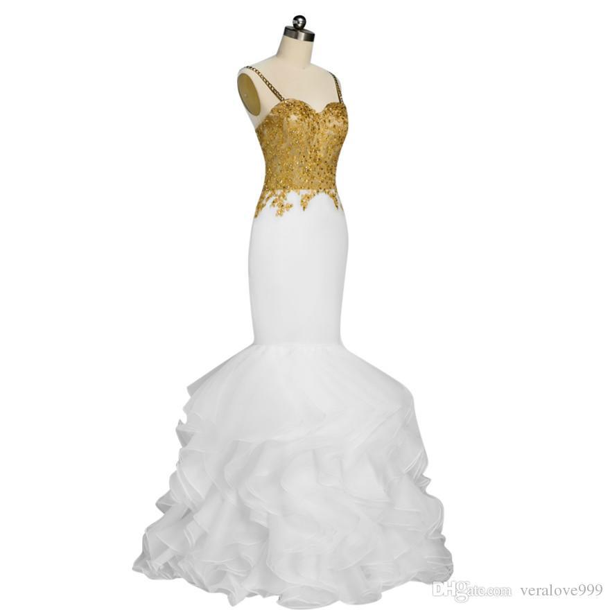 Großhandel Lange Prom Kleider 2018 Elegante Meerjungfrau ...