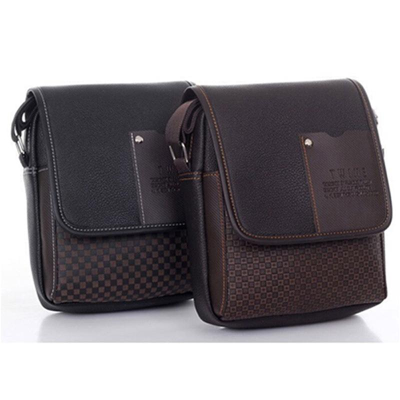 9b689341b91a Men S Bag Shoulder Crossbody Bags For Men Messenger Bag Men Leather Pu  Plaid Small Male Handbags Black Leather Satchel Ladies Bags From Amoyshoes