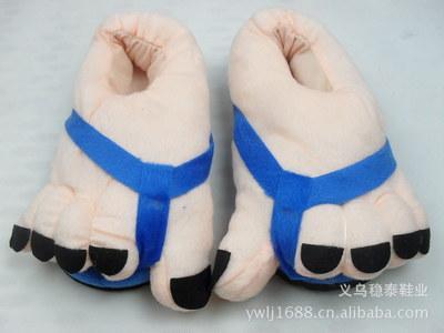 pantofole di cotone caldo inverno caldo peluche pantofole BigFoot per donne e uomini