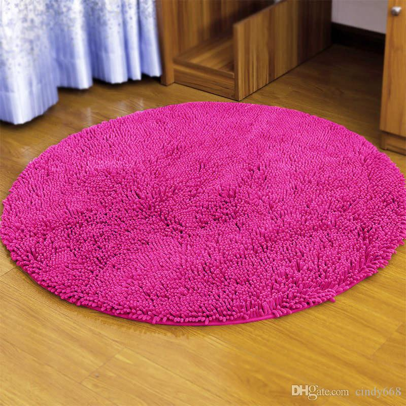 Computer Chair Cushion Bedroom Floor Mat Swivel Chair Floor Carpet Microfiber Circular Mat Living Room Study Doormat Super Soft Solid Rugs