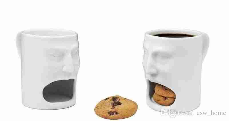 Керамические стаканчики для молока с печеньем для печенья Кружка для кофе для хранения Десертные рождественские подарки Керамическая кружка для печенья