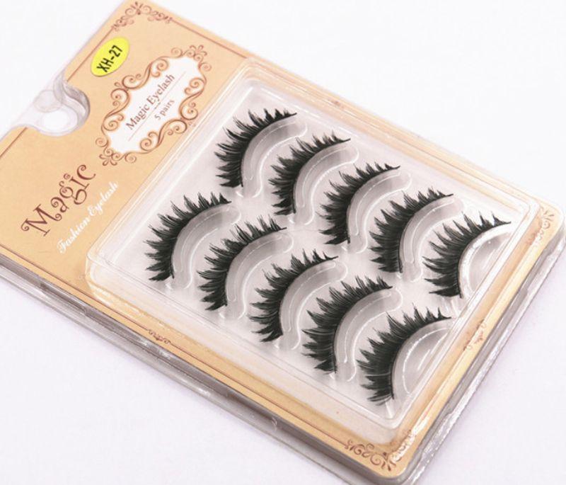 Hand Made Silk Eyelashes Full Strip Reusable Natural Soft Fake Eye Lashes Artificial human hair natural eyelashes extension false GR261