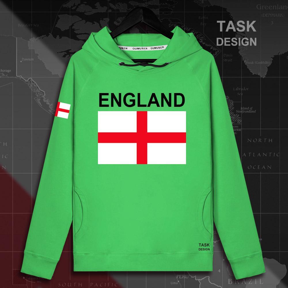 إنجلترا الإنجليزية ENG المملكة المتحدة رجل هوديي بلوفرات هوديس الرجال البلوز الشارع الشهير ملابس الهيب هوب رياضية الأمة العلم ربيع جديد