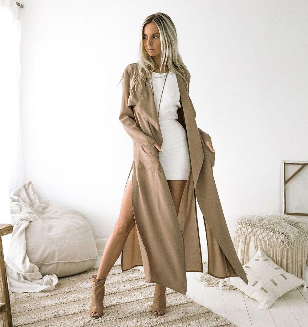 Cracked open legs Cool woman Casual Women Warm Fashion Fashion Cool Long Coat Jacket Windbreaker Parka Outwear