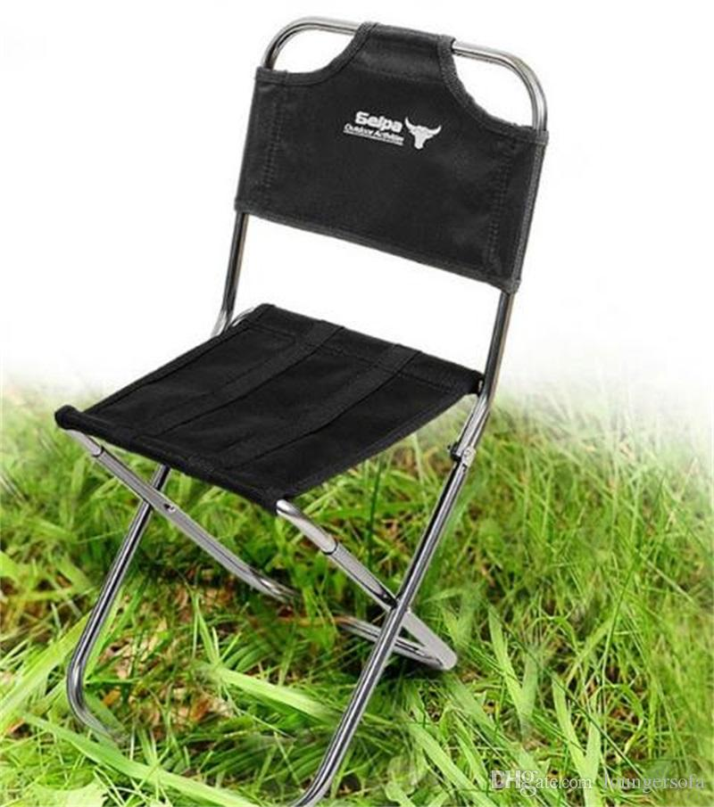 Outdoor Folding Chair Mountaineering Portable Fishing Mini Chairs Train Aeronautical Aluminum Alloy Stool Camping Wear Resistant New 26gt dZ