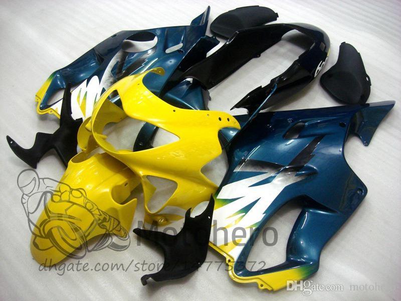 Injection molding Free Gifts Bodywork For HONDA CBR600 F4 1999 2000 CBR 600F4 99 00 Blue Yellow G333 CBR 600 F4 99-00 FS Fairing Kit