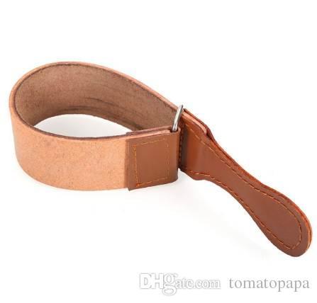 Professional Knife Sharpener Barber Leather Strop Straight Razor Fold Knife Leather shaving Strop belt