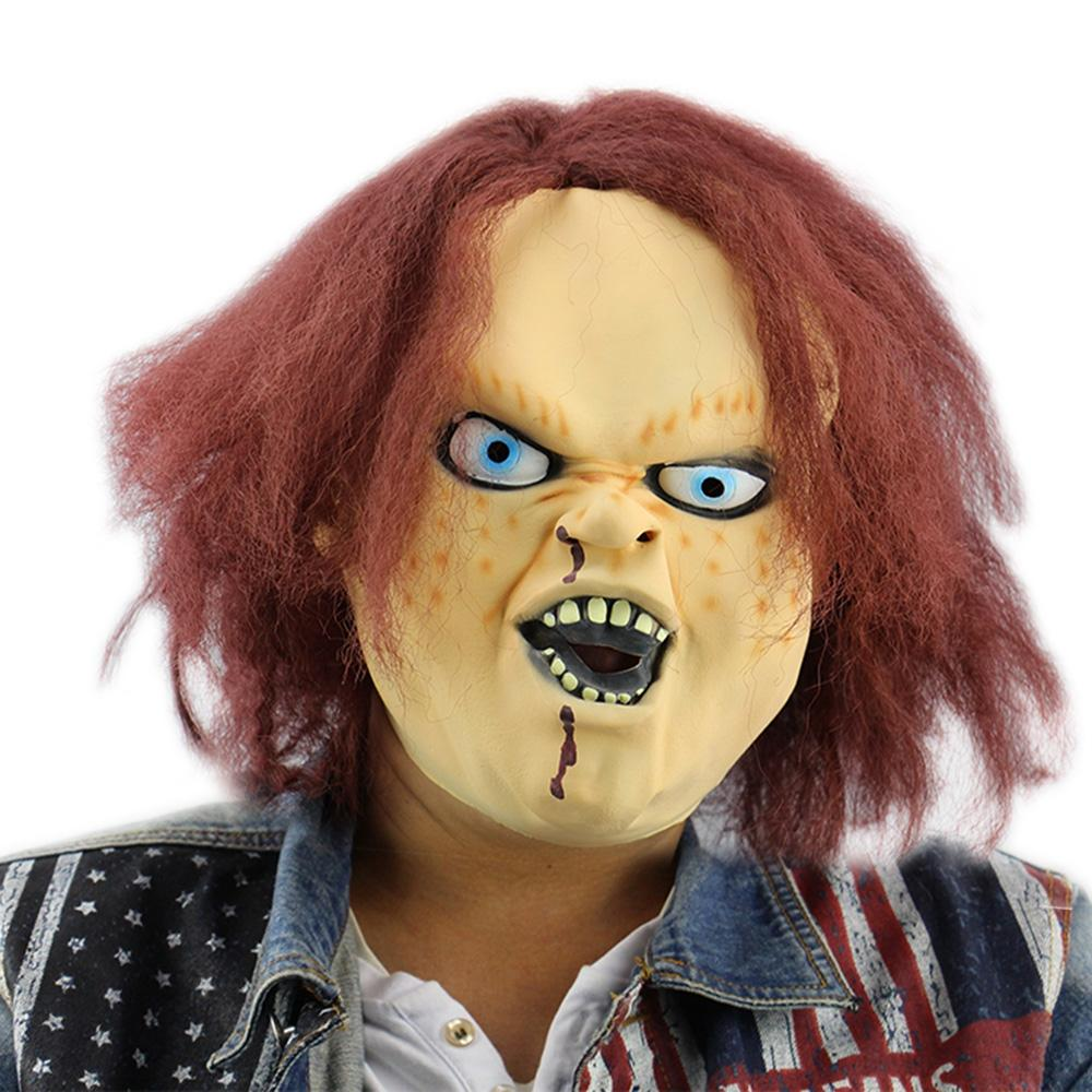 Horror Latex Mask for Child Play Chucky Action Figures Masquerade Halloween Party Bar
