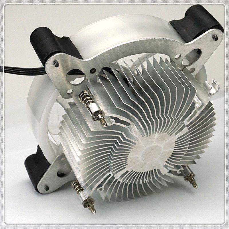 Neue hohe Qualität 12cm Heatpipes CPU-Kühler LED CPU-Kühlkörper-Aluminiumventilator Bunter schöner Großverkauf