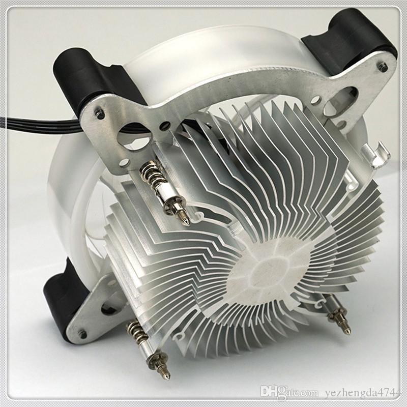 Nuovo di alta qualità 12 cm Heatpipes CPU Cooler LED CPU Dissipatore di calore Ventilatore in alluminio Colorful bella all'ingrosso