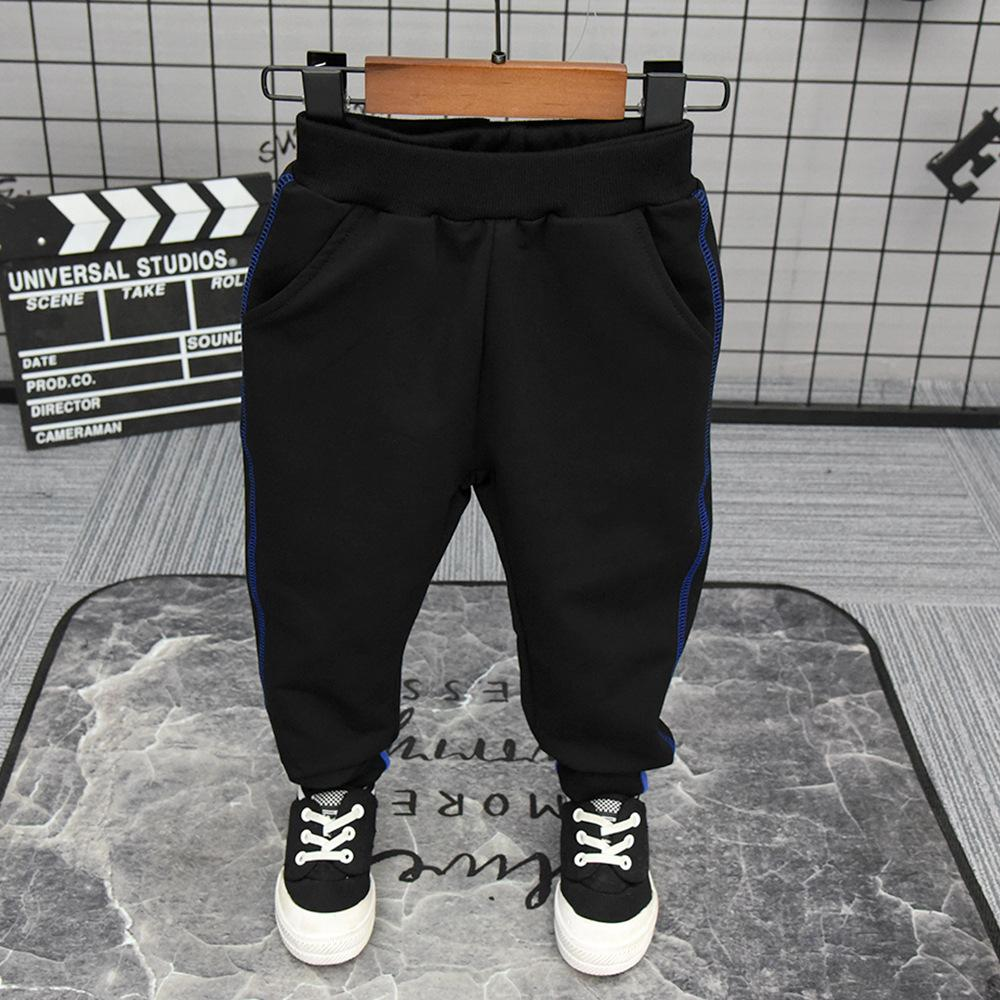 Kids Boys Cotton Jogging Pants Fleece lined Trousers Elastic Waist Sports Casual