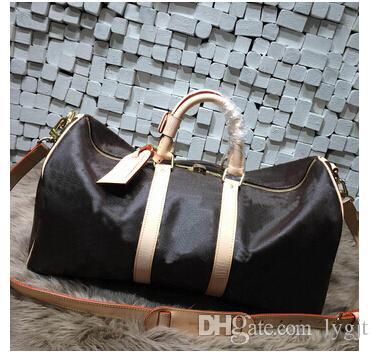 أزياء الرجال النساء حقيبة سفر حقيبة واق من المطر ، حقائب اليد العلامة التجارية مصمم حقيبة رياضية سعة كبيرة 60CM