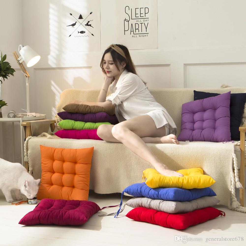 Cuscino decorativo Cuscino Tinta unita Home Textiles Office Warm Ispessimento Chair Mat Studenti Soft Cuscino Commercio all'ingrosso a buon mercato