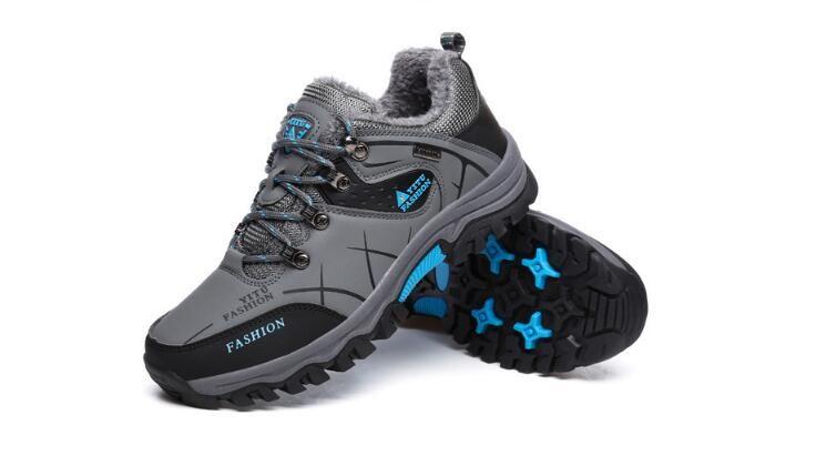 stivali da uomo inverno caldo stivali da neve uomo pelliccia peluche alti top stivaletti sneakers scarpe da lavoro uomo