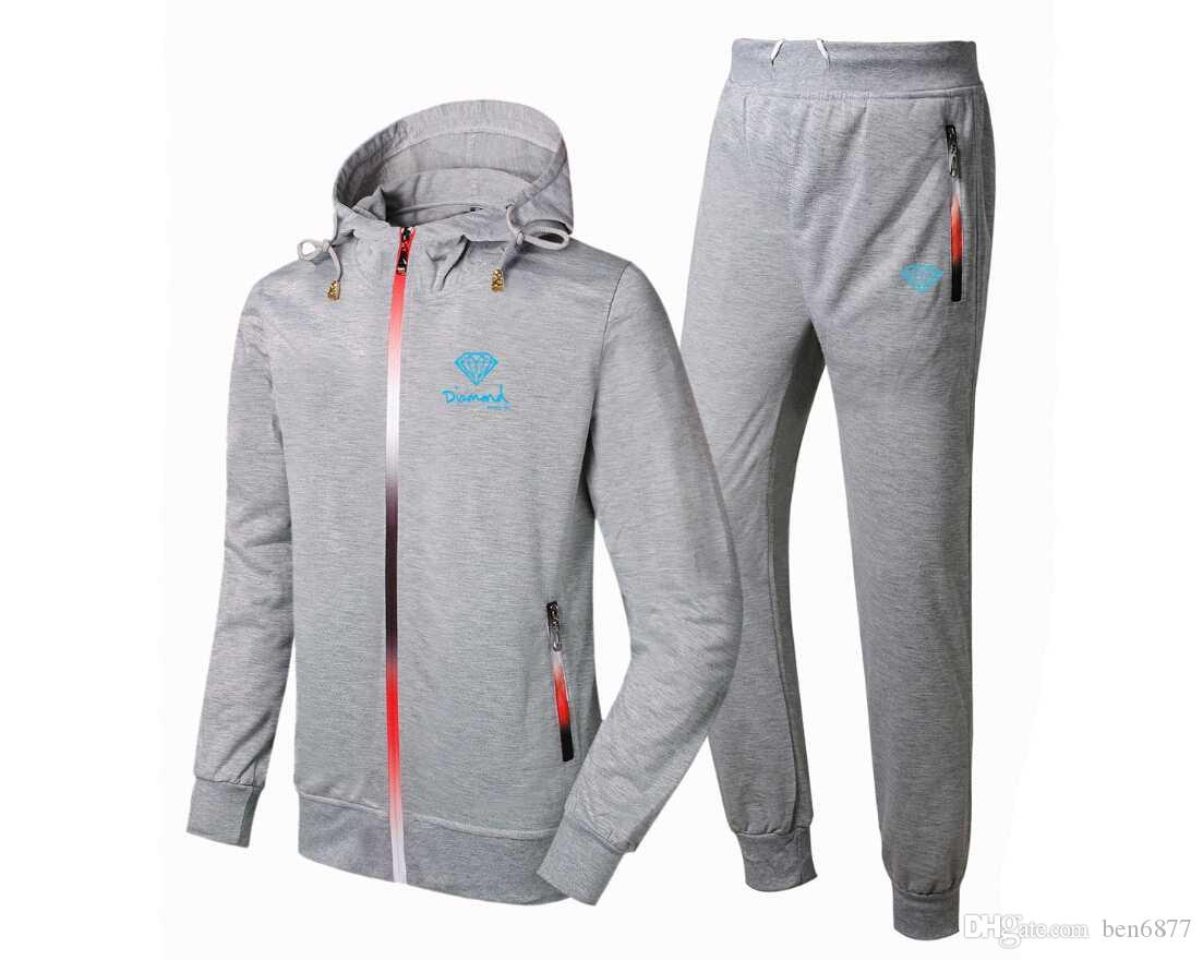 t6698807 Fashion style Diamond Supply Tracksuits men zipper sweat suit outdoor hip hop clothing casual sportswear,free shipping