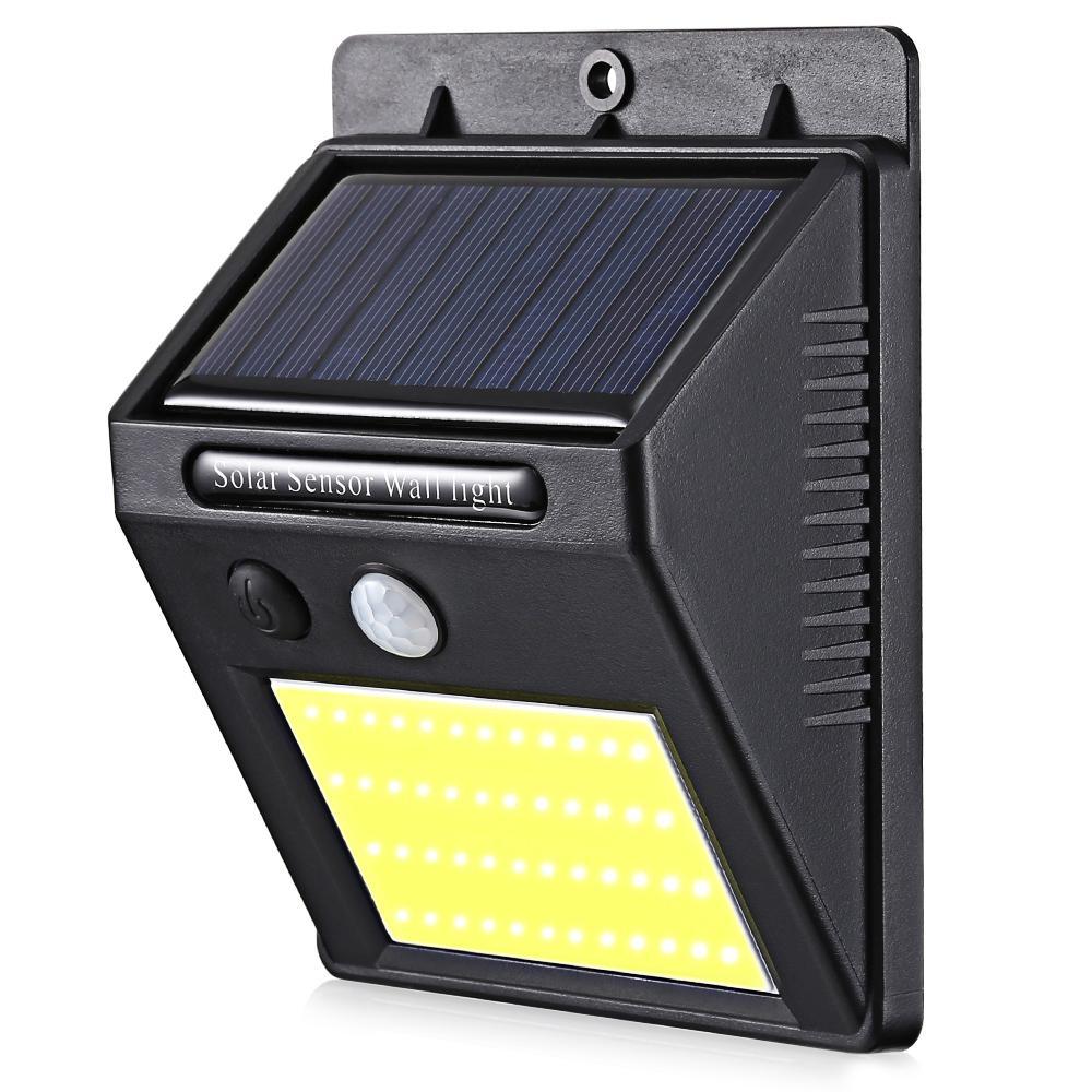 48 LEDs à énergie solaire PIR Motion Sensor Mur Lampe Corps Humain Lumière Infrarouge Extérieur Étanche Maison Jardin Sécurité Lumières Livraison Gratuite