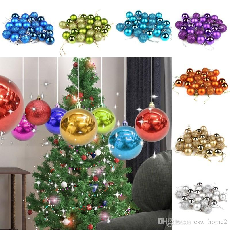 Colors Christmas.Christmas Tree Ball Baubles Xmas Carnival Party Hanging Ornament Christmas Decoration Supplies Novelty Gifts Christmas Home Decoration Christmas Home