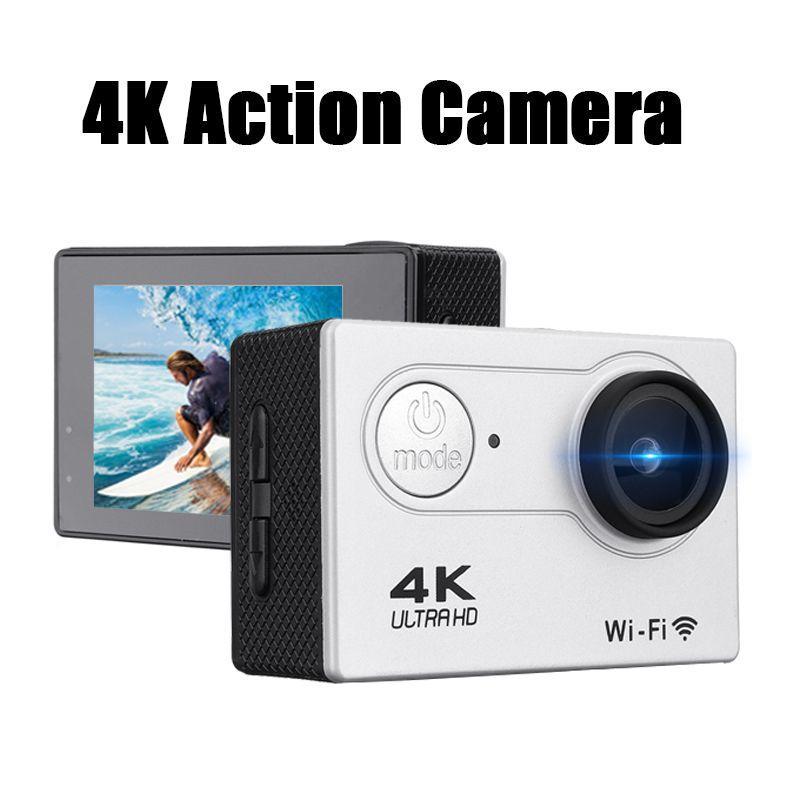 1080P спорта на открытом воздухе 4K wifi видеокамеры камеры HD экран Lite с пультом дистанционного управления DVR водонепроницаемая камера с футляром для переноски