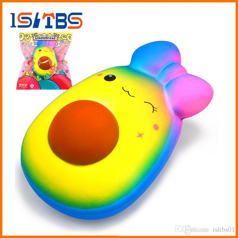2018 Hot Sale Jumbo Squishy Kawaii Fruit Avocado Squishies Slow Rising Cream Scented Squeeze Toy Original Package